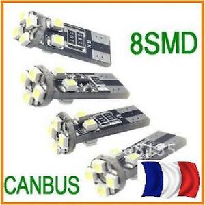 2-Ampoules-ultra-puissantes-ANTI-ERREUR-ODB-8-LED-T10-culot-W5W-SMD-Blanc-Xenon