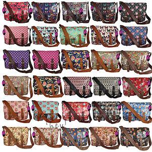 Satchel-Big-Handbag-Long-Shoulder-Strap-Bag-School-Girls-Cross-Body-Messenger-UK