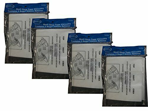 90107 20 Shop1 Gallon Wet//Dry Shop Vacuum Bags with Elastic Retainer 90101