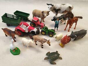 FASCIO-Fattoria-Animale-da-azienda-Bundle-Farm-Toys-Trattori-trailors-CORNICE-Mucca-Cavallo-Pecora
