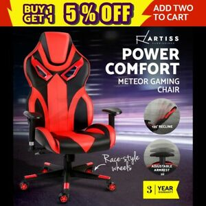 Gaming Office Chair Computer Racing Executive Recliner Racer Seat Black Red