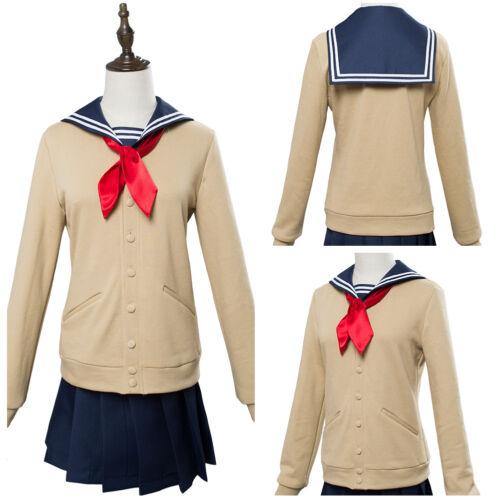 My Hero Academia Himiko Toga Cosplay Costume JK Sailor School Uniform Wig Shoes