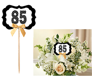 85th Birthday Set of 6 Anniversary Table Decoration Party Centerpiece Pick