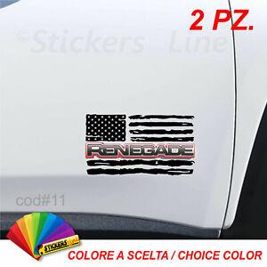 2-adesivi-Bandiera-AMERICANA-Jeep-RENEGADE-bandiere-jeep-american-flags-cod-11