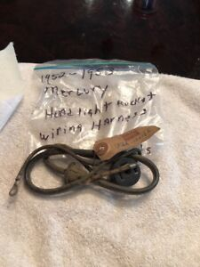 details about nos 1952 1953 ford mercury headlight bucket wiring harness wiring harness for ford naa, jubilee