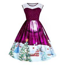 6e51876b92a item 4 Women s Christmas Lace Panel Swing Dress Vintage Plus Size Party  Outfit UK 22 24 -Women s Christmas Lace Panel Swing Dress Vintage Plus Size  Party ...
