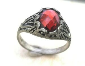 Rare-Ancient-Solid-Ring-Roman-REAL-Silver-Stunning-Artifact-Rare-Type-with-Stone