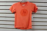 Marmot Girls Post Time Tee Short Sleeve Bright Orange Heather 57220 With Tag