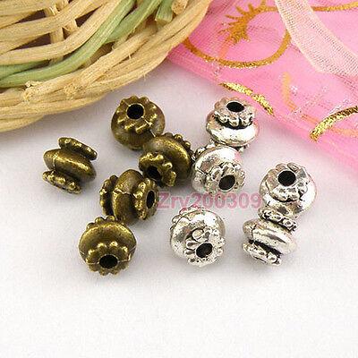 35Pcs Tibetan Silver,Antiqued Bronze Lantern Spacer Beads 6x7mm M1640