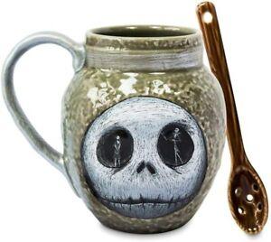 Disney-Jack-Skellington-Mug-amp-Spoon-Nightmare-Before-Christmas-Free-Shipping