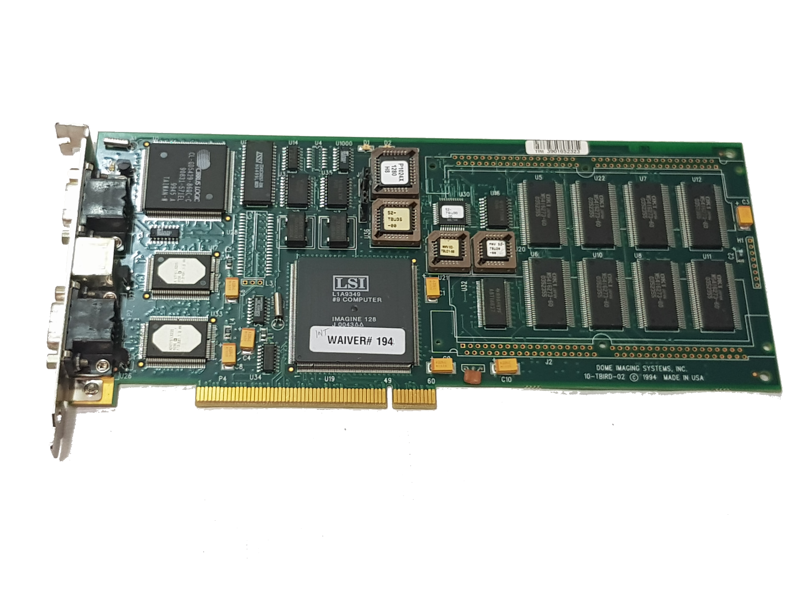 55-MD2PCI2-0A Dome Imaging Systems 10-TBIRD-02 Medical Video Card P1E-32341