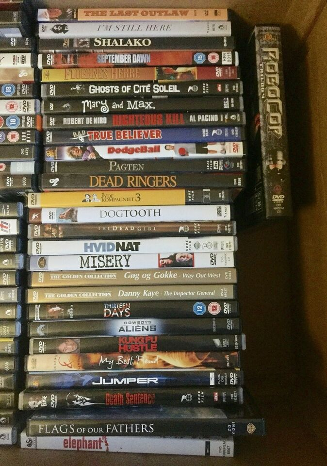 78 DVD-film sælges samlet, DVD, andet