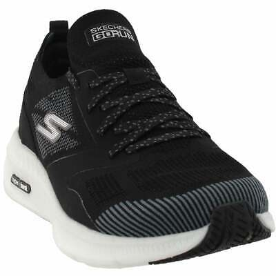 skechers go run hyper burst casual running shoes  black