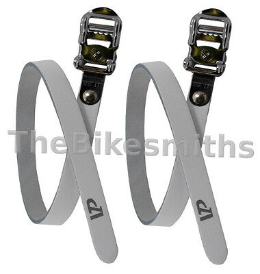 VP-715 Leather Toe Straps fits track fixed gear road bike mks bicycle pedal clip