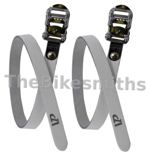 VP-715 Premium Leather Toe Straps track road bike fit MKS pedal clips AsstColors