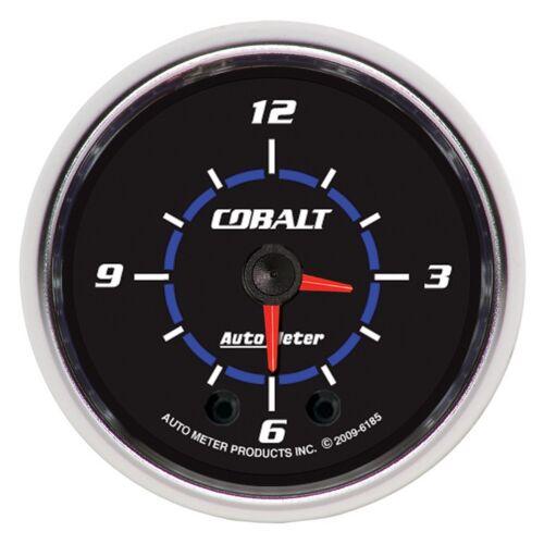 AUTO METER 6185 2-1//16 Cobalt Hi-Def Clock