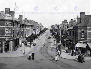 Skegness-Lumley-Road-me-Inglaterra-Vintage-Antiguo-Bw-Foto-Impresion-Cartel-1757BWB