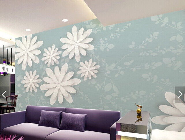 3D Weiß Petal 646 Wallpaper Murals Wall Print Wallpaper Mural AJ WALL AU Kyra