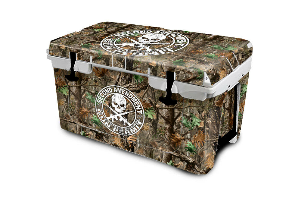 USATuff Cooler Wrap Decal 'Fits New Mold' RTIC 45QT FULL 2nd Woodland Tree Camo