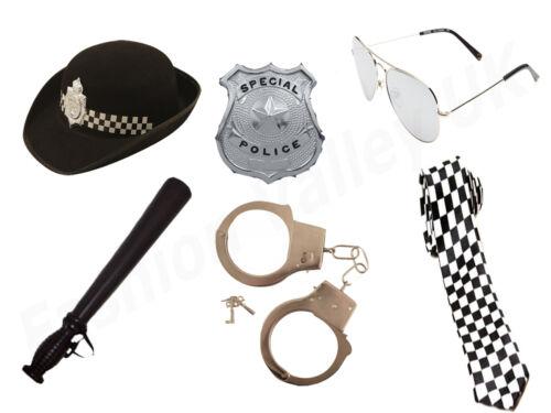 Donna ADULTA 6PC Set POLIZIOTTA donna poliziotto Costume Costume da gallina Polizia