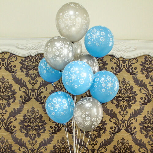 8 Frozen Snow Flakes Latex Balloons Birthday Wedding Party Baby Shower Hens