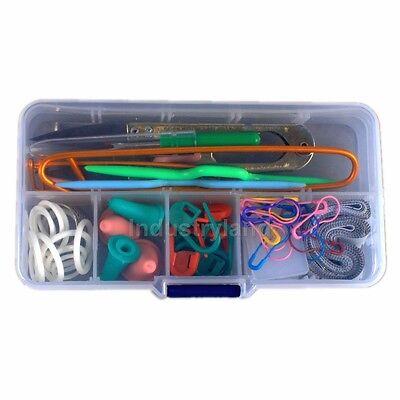Knitting Accessory Supply Set Basic Tools + Case Lots pcs