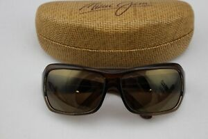 MAUI-JIM-MJ111-01-Brown-Polarized-Sunglasses-With-Hard-Case-63-15-115-Italy