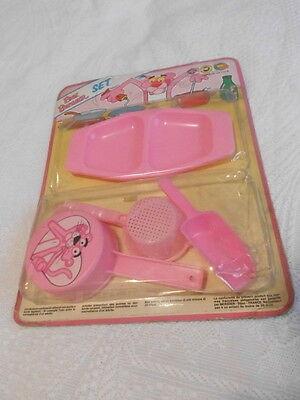 Accurato Pantera Rosa Fondo Magazzino Set Vintage Toy
