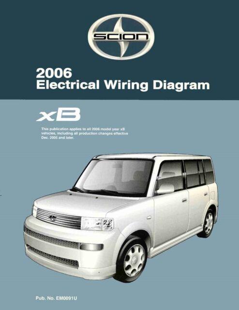 2006 SCION xB Wiring Diagrams Schematics Layout Factory ...