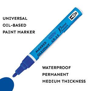 blue paint marker oil based waterproof pen wood glass plastic tyre. Black Bedroom Furniture Sets. Home Design Ideas