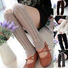 Fashion Women's Crochet Knit Winter Wool Leg Warmer Legging Knee High Color Sock