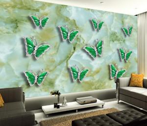 3D greener Schmetterling5 Tapete Tapeten Mauer Foto Familie Tapete Wandgemälde DE
