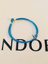 3549064ca Genuine Pandora Turquoise Blue Fabric Cord Bracelet 590749CTQ 19cm ALE S925