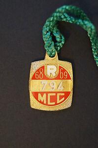 Cricket-Vintage-1968-MCC-Restricted-Melbourne-Cricket-Club-Member-039-s-Badge