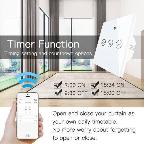 WLAN Touch Lichtschalter Smart Schutter Glas WIFI Wand Steckdosen Alexa Google