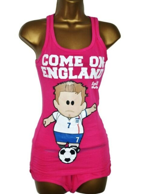 Ladies//Teenager Ex-Weenicon COME ON ENGLAND Shorts /& Top  P.J.s UK 8 10 12 14