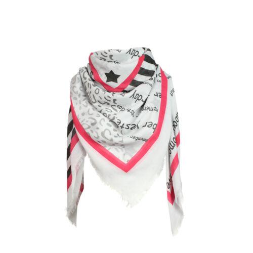 Glamexx 24 a cuadros Karo bufanda inflexión bufanda estrellas anclajes de flores patrón pañuelo poncho