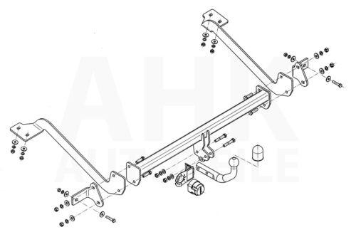 Für Peugeot Partner II Kasten//Tepee 4628 mm 08-18 Anhängerkupplung starr+ES 13p