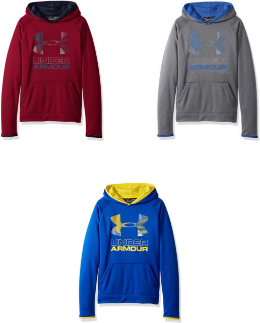 Under Armor Boys Armour Fleece Solid Big Logo Hoodie
