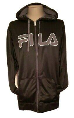 FILA Logo Graphic Shiny Black Zip