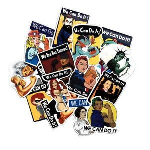 14Pcs-Mixed-We-Can-Do-It-Vinyl-Sticker-Decal-Women-039-s-Rights-Stickers-S5F6
