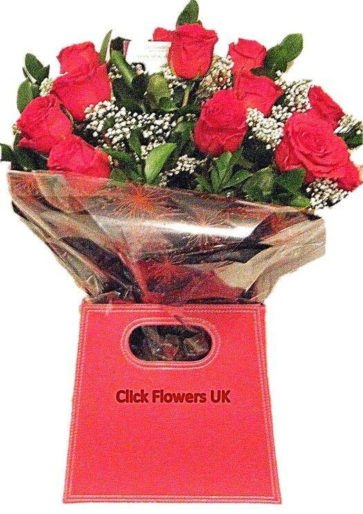 Fleurs Fraîches livré au Royaume-Uni De Luxe Rose Rouge Rouge Rouge Gratuit Envoi de fleurs | De Nouveau Modèle  | Belle Qualité  | Exquis  20e4fb