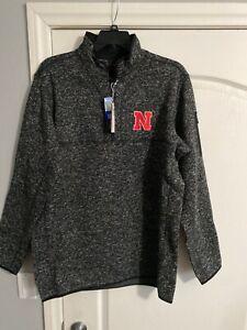 NWT-Antigua-Golf-XLT-NCAA-Nebraska-Corhuskers-1-3-Zip-Fleece-Pullover