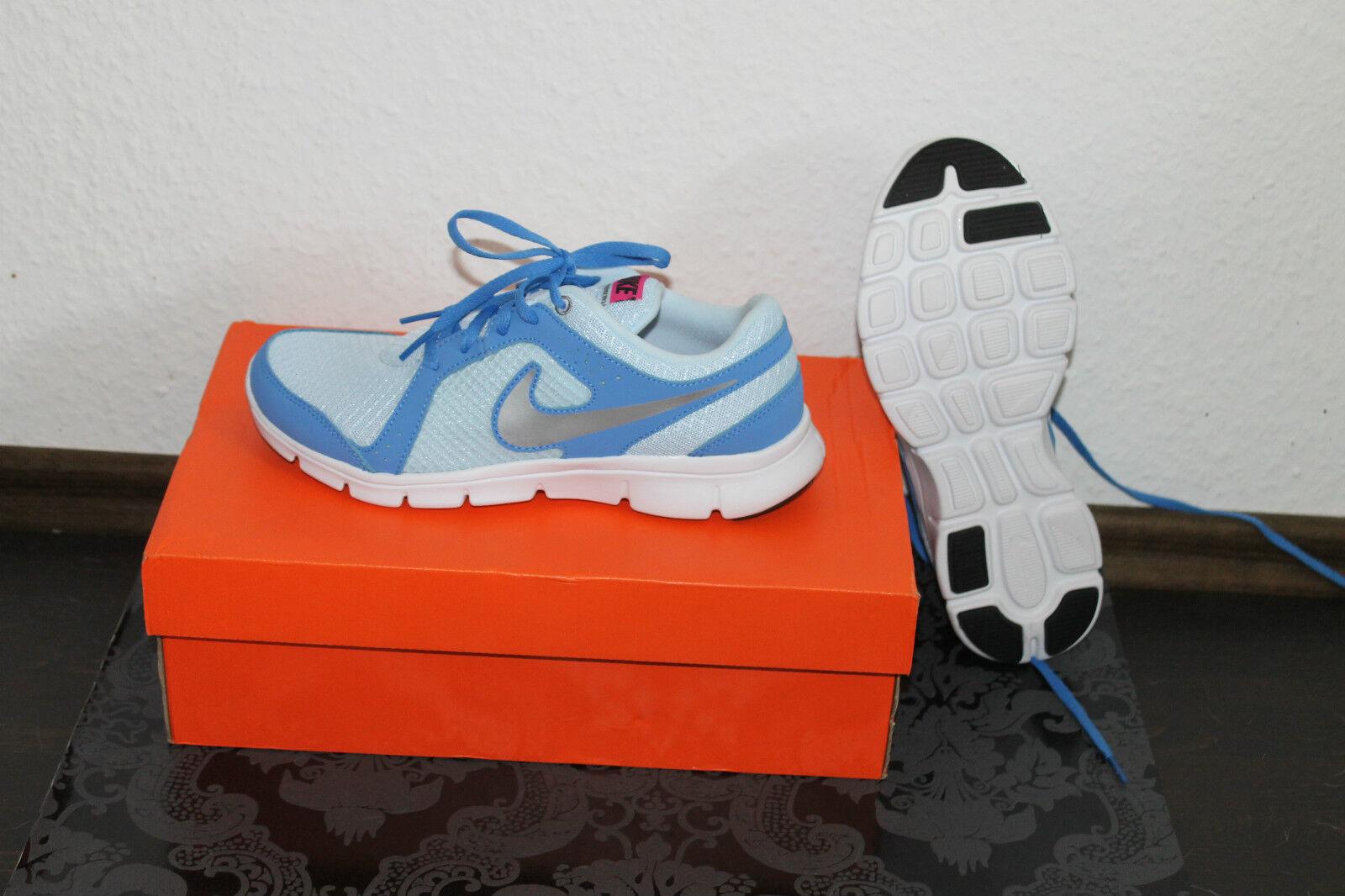 Nike Flex Damen Running Schuhe Blau Größe 38 UK 5 oder 38,5 Uk 5,5 Neu