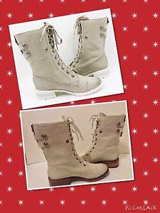 SAM-EDELMAN SZ 8.5,9,10.Darwin-COMBAT boots CLAY, easy back zip up closure