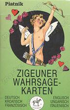 TAROT TELLING CARDS GIPSY CARD DECK - ZIGEUNER - 6 LANGUAGES, Piatnik #120