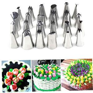 Iron-24-Pcs-Icing-Piping-Nozzles-Pastry-Tips-Cake-Decorating-Baking-Tool-Set-AA