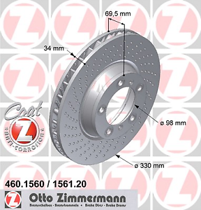 Zimmermann 460.1560.20 Bremsscheibe COAT Z