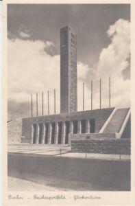 Olympiade-Berlin-1936-Carte-Postale-Terrain-de-Sport-de-Reich-Clocher
