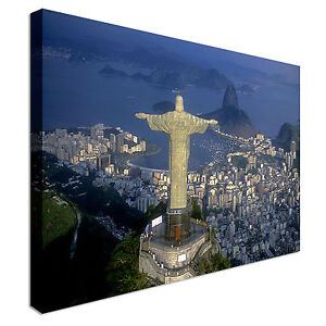 Details about Rio de Janeiro Aerial view of Christ Canvas Art Cheap Wall  Print Large Any Size